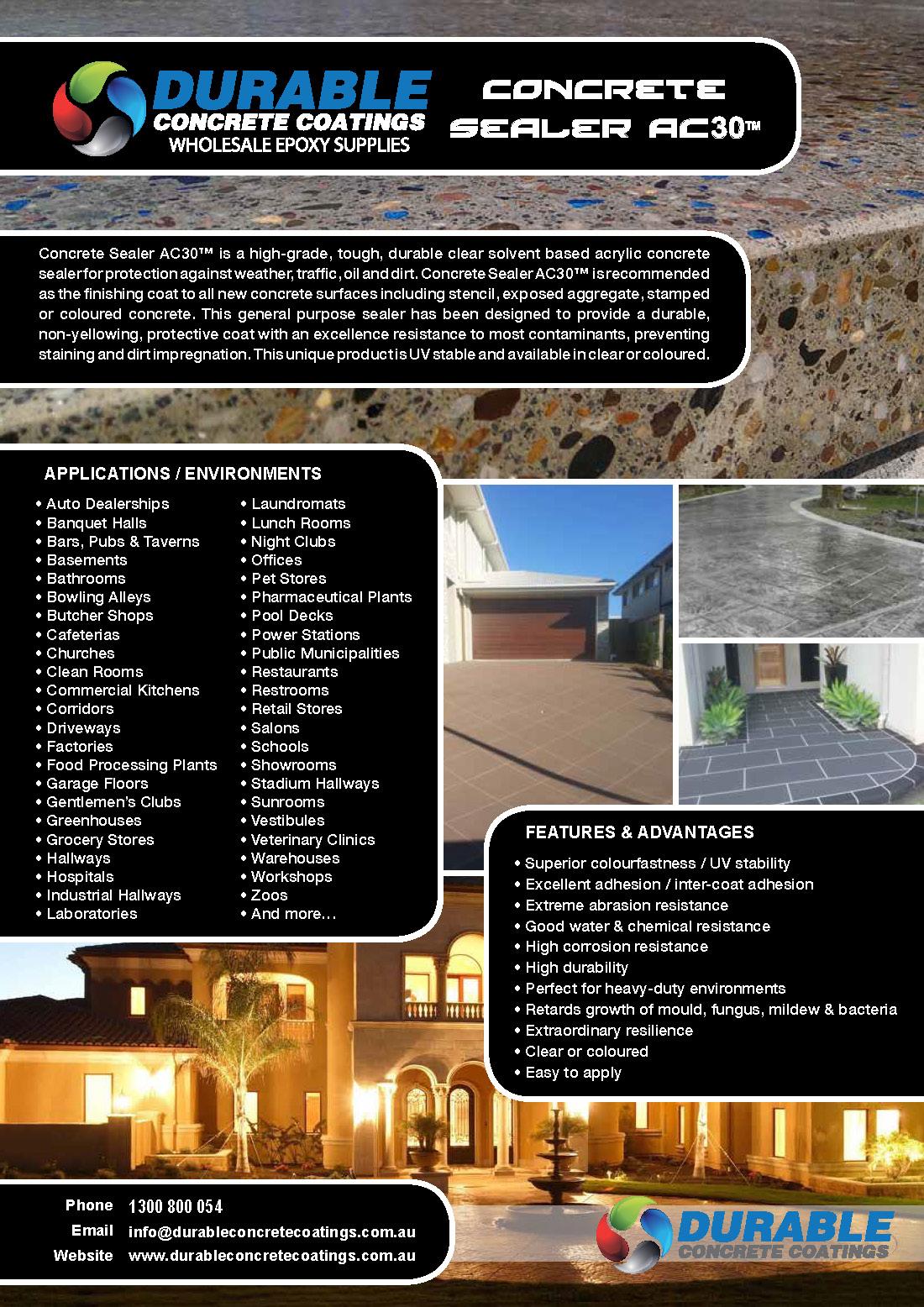 Colour Charts Durable Concrete Coatings